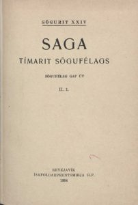 Saga: Tímarit Sögufélags 1954-1958 II