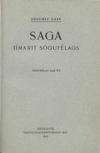 Saga: Tímarit Sögufélags 1949-1953 I
