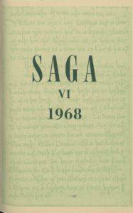 Saga: Tímarit Sögufélags 1968 VI