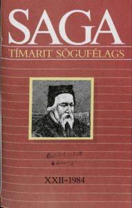 Saga: Tímarit Sögufélags 1984 XXII