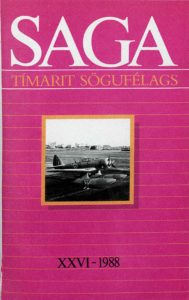 Saga: Tímarit Sögufélags 1988 XXVI