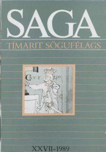 Saga: Tímarit Sögufélags 1989 XXVII