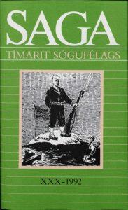Saga: Tímarit Sögufélags 1992 XXX