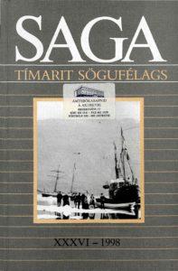 Saga: Tímarit Sögufélags 1998 XXXVI