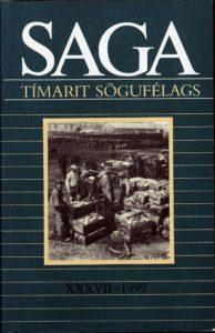 Saga: Tímarit Sögufélags 1999 XXXVII