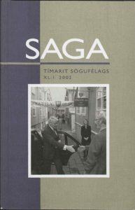 Saga: Tímarit Sögufélags 2002 XL: I